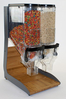 Cereal Bamboo and Steel Breakfast/Snack Display Stand (cereal not included)