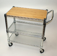 Foodservice Cart and Bamboo Top