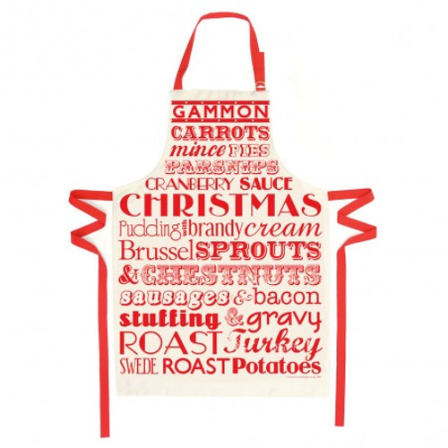 Christmas Dinner Apron - Red