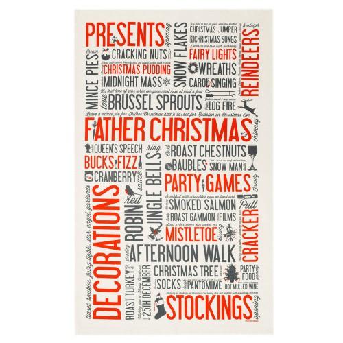 Festive Fun Christmas Tea Towel