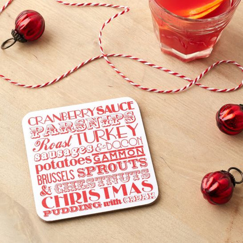 Christmas Dinner Coaster from Victoria Eggs.