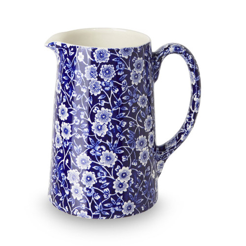 Burleigh Blue Calico Medium Tankard Jug
