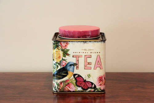 Nostalgia Square Tea Caddy