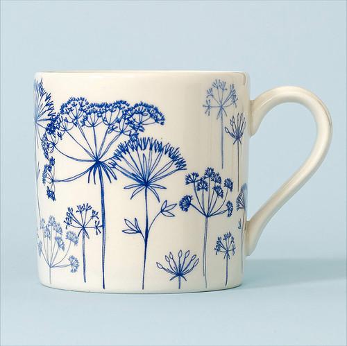 Ceramic Seedhead mug. Made in England.