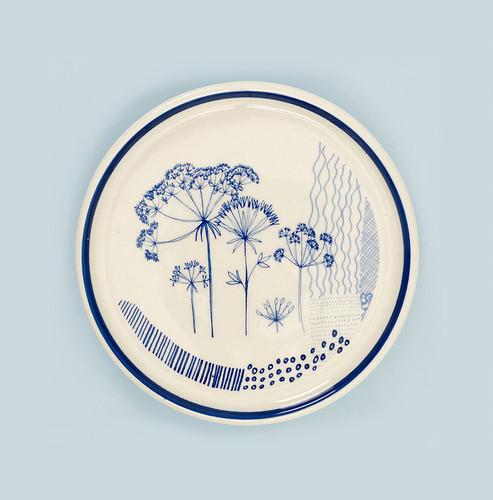 Ceramic Seedhead coaster. Made in England.