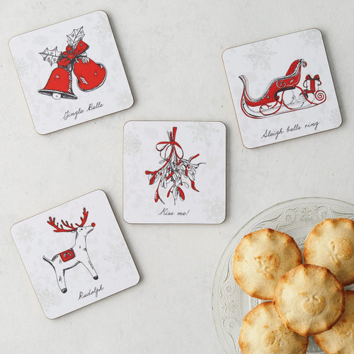 Christmas Delights Icons Set of 4 Coasters from Victoria Eggs.