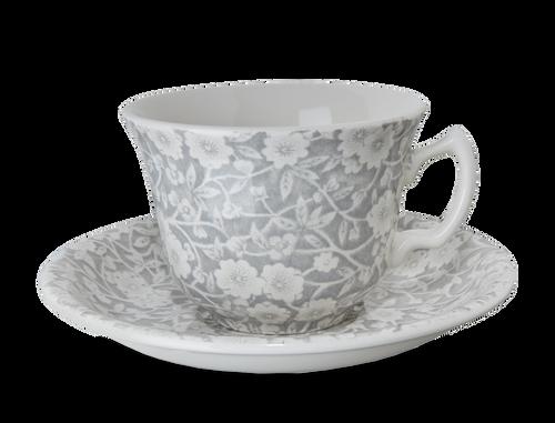 Dove Grey Teacup and Saucer
