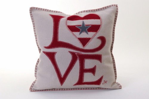 USA Fab Love Cushion