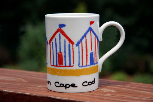 Beach Hut Stripes- Red/Blue - Beside the Sea on Cape Cod