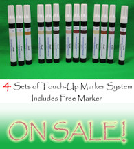 Four Sets of Furniture Touch Up Markers System - 12 markers (plus black OR perfect brown)