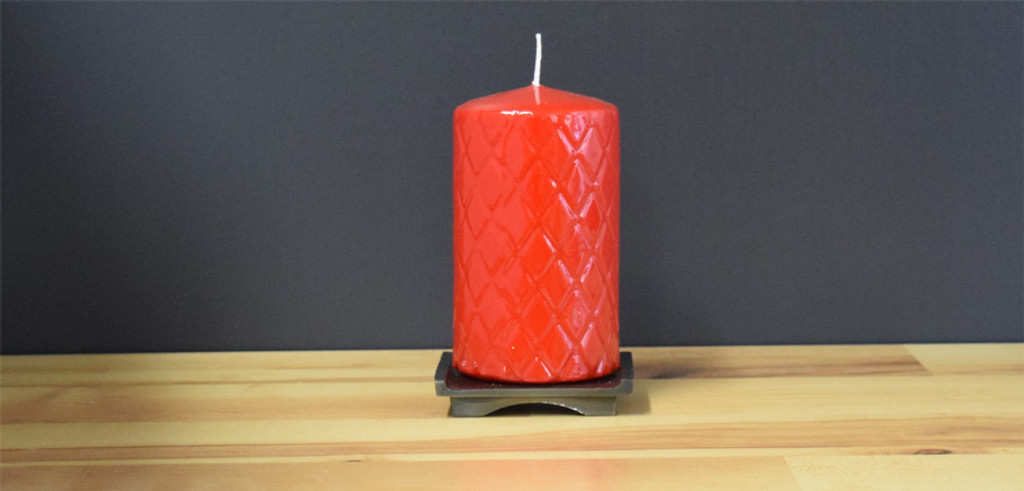 Dripless Red Pillar Candles
