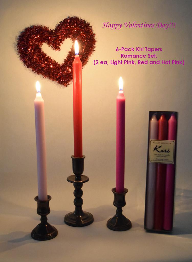 Valentines Romance Kiri Tapers Set