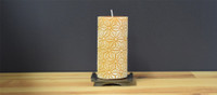 Unscented Yellow Pillar Candle