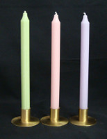 "Spring Time Set of 12"" Kiri Tapers  Colors: Light Green, Light Pink and Light Lilac"