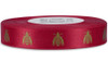 Yellow Gold Bees on Red Ribbon - Double Faced Satin Symbols