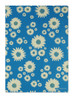 Gift Wrap - Daisies - Blue