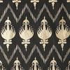 Gift Wrap - Ikat- Black/Metallic Gold