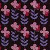 Gift Wrap - Flower Power - Brown/Pink/Magenta