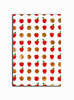 Gift Wrap - Apples - White/Red Metallic Gold