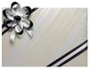 Velvet Satin Flower Topper - Black Velvet/Silver Satin