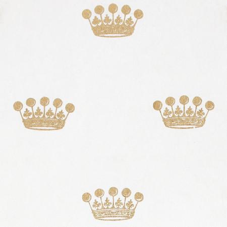 Gift Wrap - Crown - White