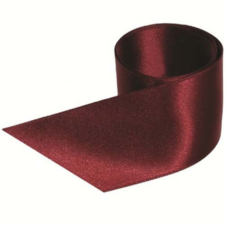 French Double Faced Satin Ribbon - Black Cherry