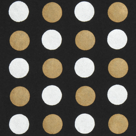 Gift Wrap - Dots - Silver & Gold on Black