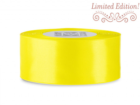 SALE! Double Faced Satin Ribbon - Golden Chain