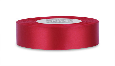 Custom Printing on Double Faced Satin Ribbon - Red