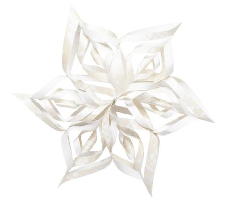 Snowflake Topper - White Floral Lace