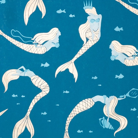 Mermaid – Dark Blue/Light Blue, Blue & Gold Metallic