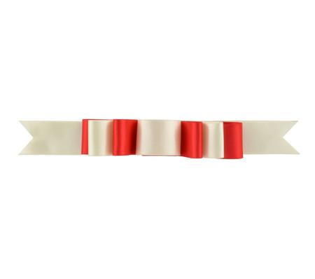 Triple Layer Bow Topper - Bone/Red