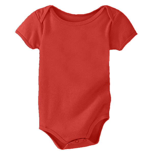Organic Cotton Onsie - Solid - Poppy