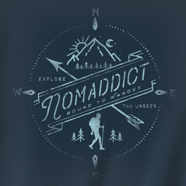 Women's Organic T-Shirt Nomaddict Soft Black