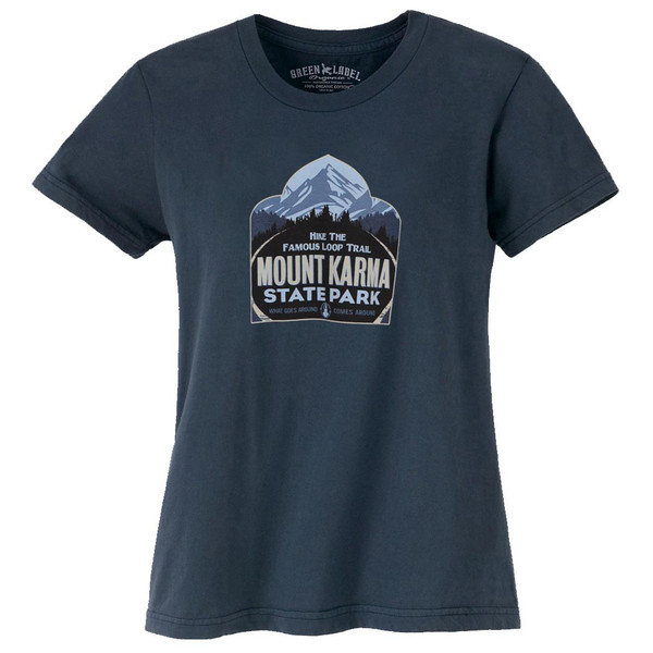 Women's Organic T-Shirts - Mount Karma Soft Black