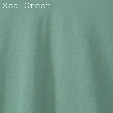 Women's Classic V-neck Solid Sea Green