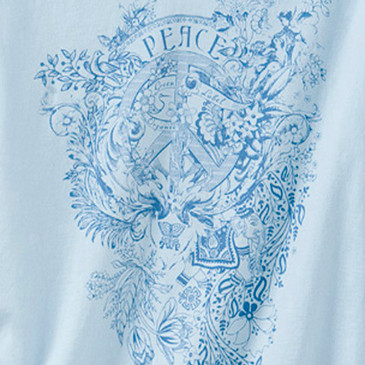 Women's Slim Tank Peace Blue Bird