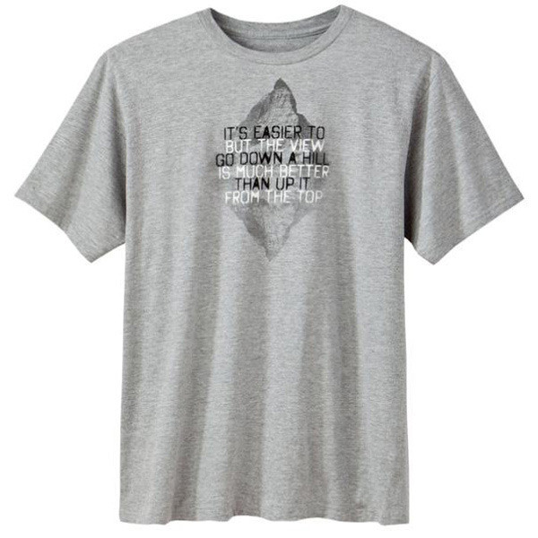 Men's Made in America T Shirts - From the Top Heather Grey