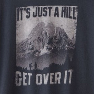 Men's Organic Hiking Tee - Just a Hill Soft Black