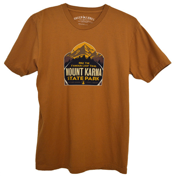 Men's Organic Ringspun Cotton T-Shirts - Mount Karma Nutmeg