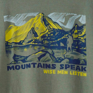Men's Nature Graphic Tees - Mountains Speak Willow