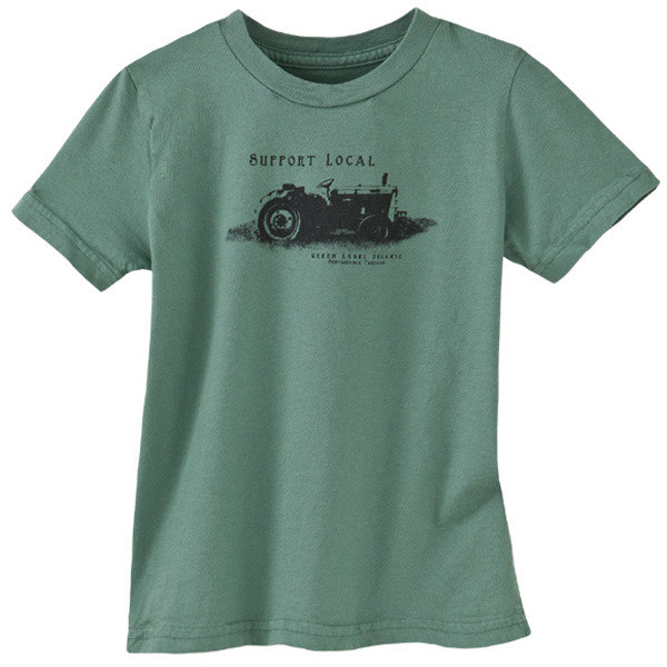 Men's Sustainable and Made in America T-Shirts - Support Local Sea Green