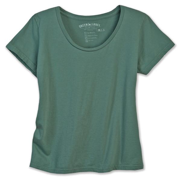 Women's Organic XXL Classic Scoop Necks - Solid Sea Green