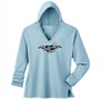 Women's Slim Hooded Tunic Mother Earth Blue Bird