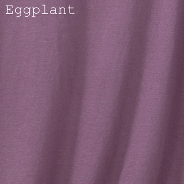 Women's Classic V-neck Solid Eggplant