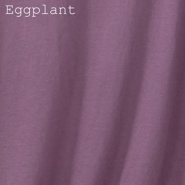 Women's Classic V-neck Solid Eggplant