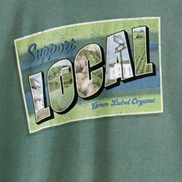 Local Postcard Women's Slim T-Shirt - Willow Large