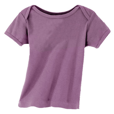 Solid Infant Tee - Eggplant 6-12M