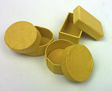 Mini Paper Mache Cardboard Boxes 12PK