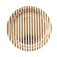 Copper Stripe Large Plate